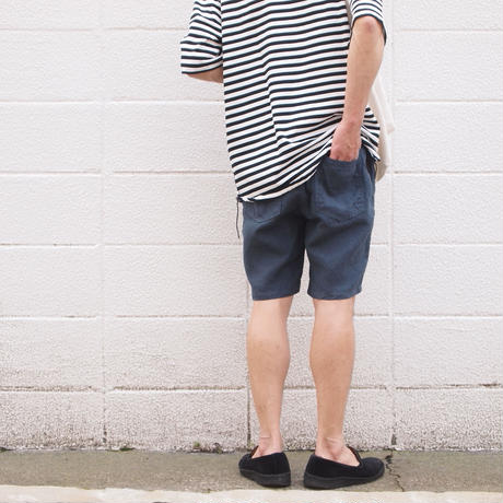 【unisex】Ordinary fits〈オーディナリーフィッツ〉 TRAVEL SHORTS linen NAVY