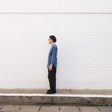 ELEVEN EIGHT〈イレブンエイト〉 インディゴ天竺 8分袖Tシャツ BLEACH