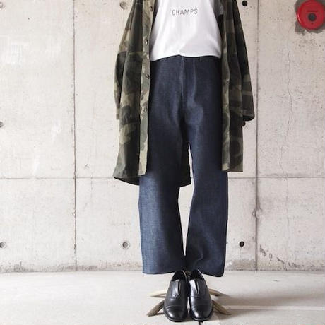 【women】Ordinary fits〈オーディナリーフィッツ〉 LOG DENIM INDIGO