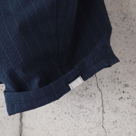 【women】Ordinary fits〈オーディナリーフィッツ〉 BALL PANTS sucker NAVY STRIPE