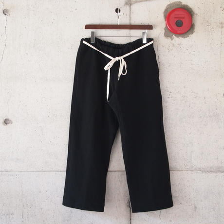 【unisex】5W〈ゴワット〉  Samue Pants - 三子撚Herringbone BLACK