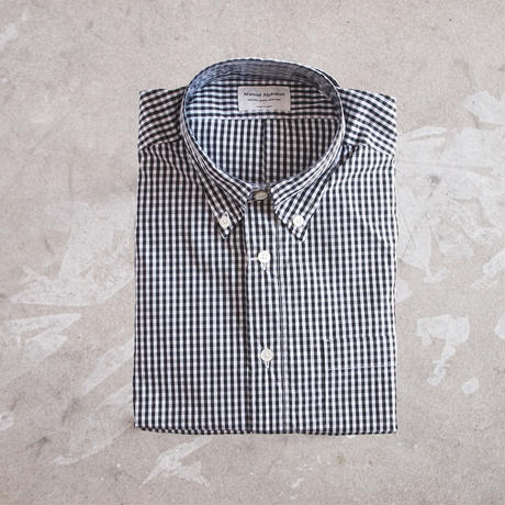 Manual Alphabet〈マニュアルアルファベット〉SUPERIOR GINGHAM CHECK BD SHIRT BLACK