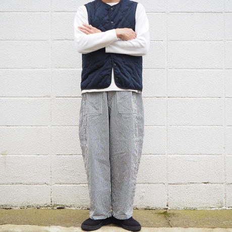 【unisex】Ordinary fits〈オーディナリーフィッツ〉 JAMES PANTS stripe  OFF