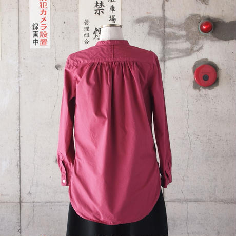 【women】Manual Alphabet〈マニュアルアルファベット〉 OVERDYE BAND COLLAR SHIRT PINK
