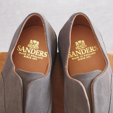 SANDERS〈サンダース〉  OXFORD DECK SLIP-ON GREY