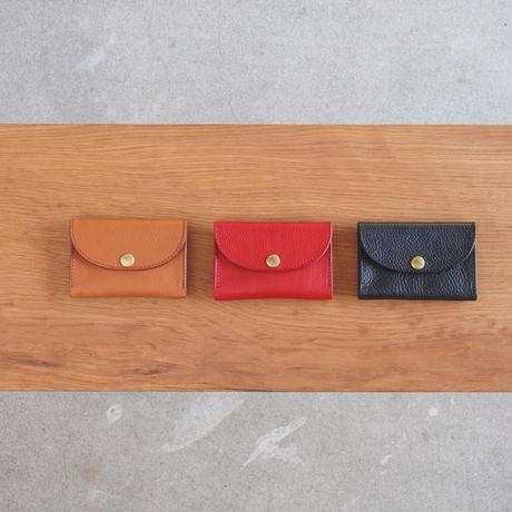 Dono〈ドーノ〉 ARIZONA LEATHER  CARD CASE BROWN/RED/BLACK