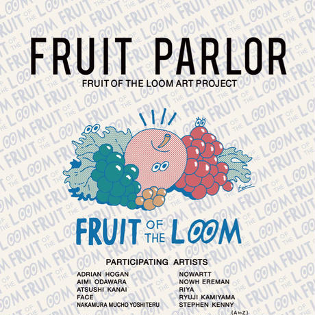 FRUIT OF THE LOOM〈フルーツオブザルーム〉 FRUIT PARLOR アートボード - Art by ATUSHI KANAI