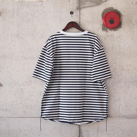 have a good day〈ハブアグッデイ〉 BORDER LOOSE TEE NAVY