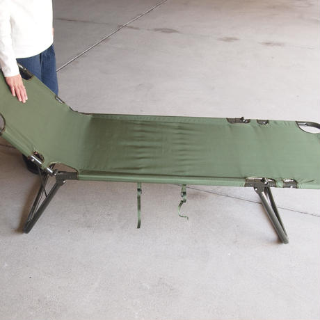 US MILITARY〈ミリタリー〉 FOLDING COT - Dead stock OLIVE