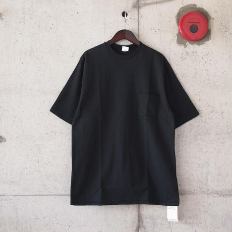 Manual Alphabet〈マニュアルアルファベット〉 DUT YARN TALL TEE BLACK