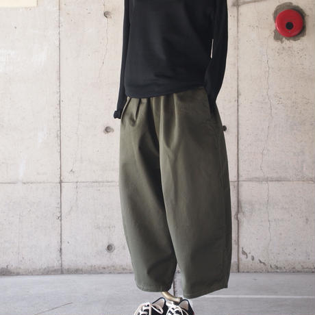 【women】Ordinary fits〈オーディナリーフィッツ〉 BALL PANTS chino OLIVE