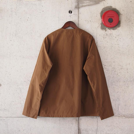 Manual Alphabet〈マニュアルアルファベット〉 WAX WEATHER SHIRT CARDIGAN BROWN