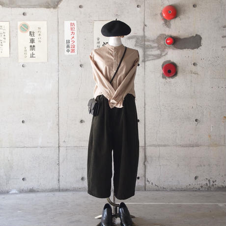 【women】Ordinary fits〈オーディナリーフィッツ〉 BALL PANTS  corduroy KHAKI