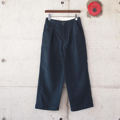 【women】Betty Smith〈ベティスミス〉 FLANNEL WIDE PANTS NAVY