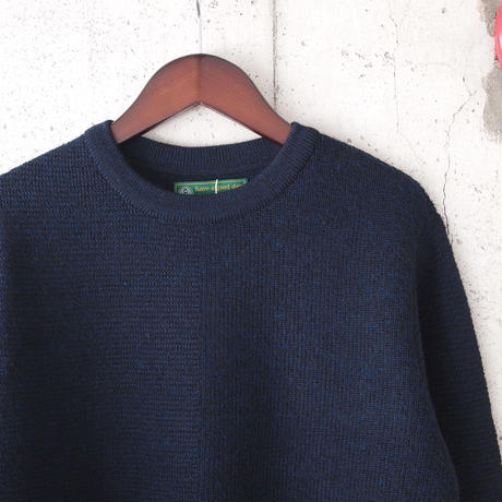 【unisex】have a good day〈ハブアグッデイ〉 HALF SWEATER NAVY