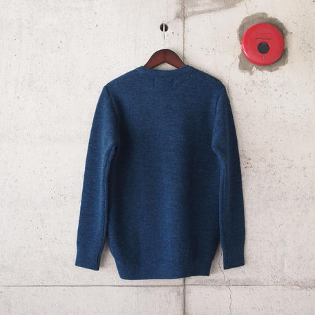 【unisex】have a good day〈ハブアグッデイ〉 HALF SWEATER BLUE