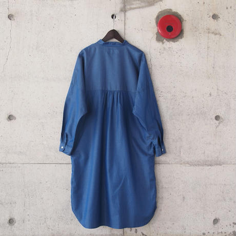【women】Manual Alphabet〈マニュアルアルファベット〉 TWILL DOLMAN ONE PIECE  BLUE