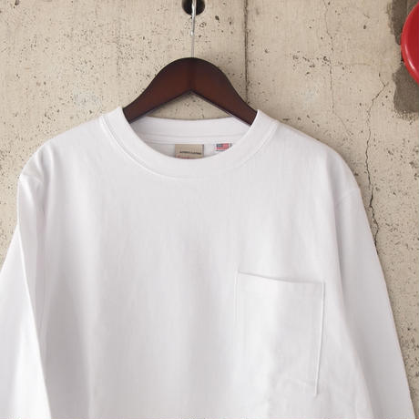 Goodwear〈グッドウェア〉 U.S.A. COTTON LONG SLEEVE TEE WHITE