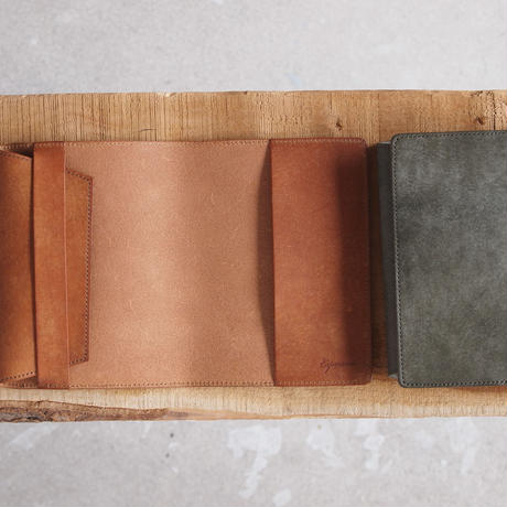Esperanto〈エスペラント〉 PUEBLO LEATHER BOOK COVER CAMEL/GREY/BLACK