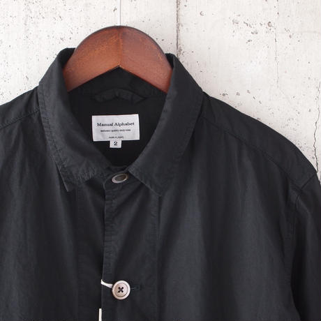 【unisex】Manual Alphabet〈マニュアルアルファベット〉 TYPEWRITER SHIRT COAT  BLACK