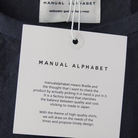 【women】Manual Alphabet〈マニュアルアルファベット〉 OVER DYE LONG SLEEVES PULLOVER NAVY