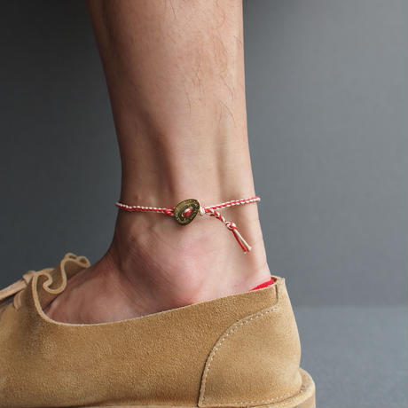 """【unisex】Esperanto〈エスペラント〉  COTTON CORD ANKLET """"731A"""" RED/GREEN/BROWN/BLACK"""