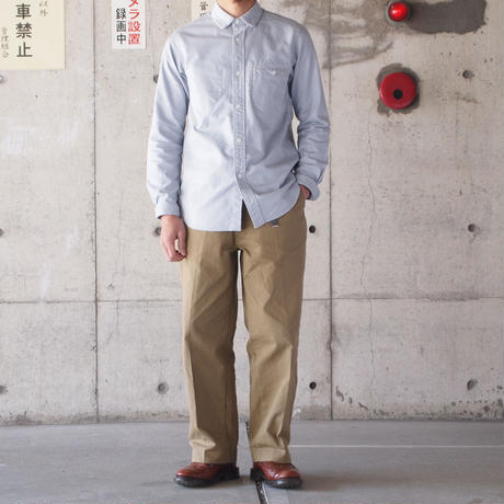 【unisex】Ordinary fits〈オーディナリーフィッツ〉 INVISIBLE B/D SHIRT (OM-S001) GREY