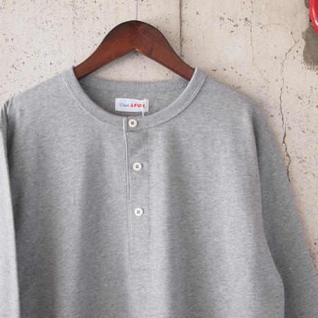 【unisex】Drole & FUN〈ドロールアンドファン〉FRENCH HENLEY NECK TEE GREY