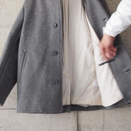 Drole & FUN〈ドロールアンドファン〉SUPER MELTON FOOD COAT GREY