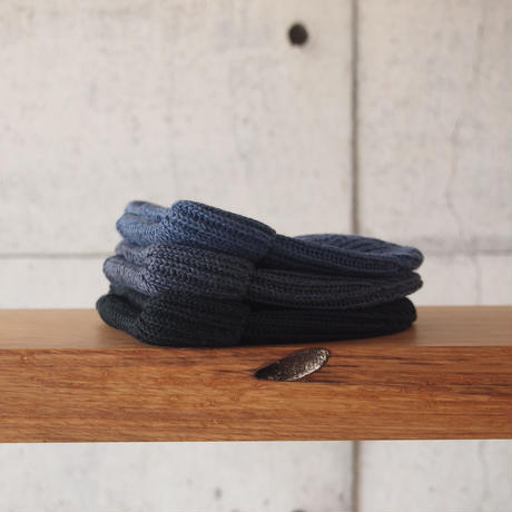 morno〈モーノ〉 SHORT RIB WATCH CAP NAVY/CHARCOAL/BLACK