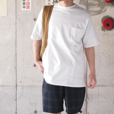 Manual Alphabet〈マニュアルアルファベット〉 DUT YARN TALL TEE WHITE