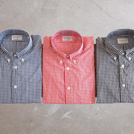 Manual Alphabet〈マニュアルアルファベット〉SUPERIOR GINGHAM CHECK BD SHIRT RED