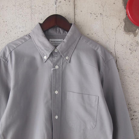 Manual Alphabet〈マニュアルアルファベット〉SUPIMA OX BASIC BD   SHIRT GREY
