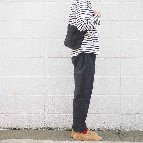 Manual Alphabet〈マニュアルアルファベット〉 SEERSUCKER EASY PANTS  BLACK
