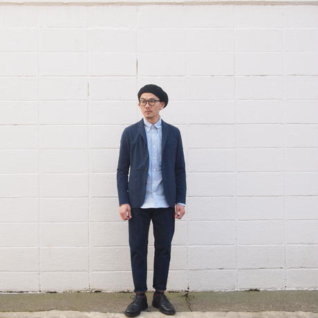 Manual Alphabet〈マニュアルアルファベット〉SUPIMA OX BASIC BD   SHIRT NAVY