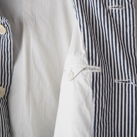 【unisex】Ordinary fits〈オーディナリーフィッツ〉 YARD COAT stripe OFF