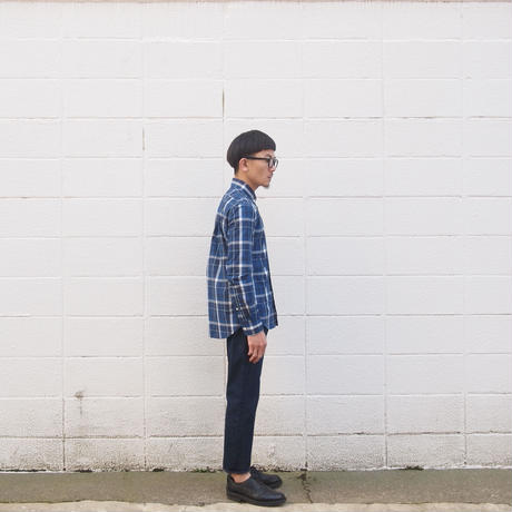 Manual Alphabet〈マニュアルアルファベット〉TYPEWRITER CHECK BD SHIRT GREEN