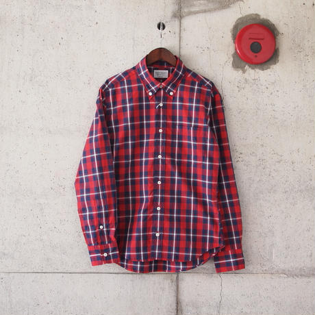 Manual Alphabet〈マニュアルアルファベット〉TYPEWRITER CHECK BD SHIRT RED