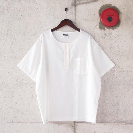 SUNNY SPORTS 〈サニースポーツ〉 3B HENLEY NECK SHIRT WHITE