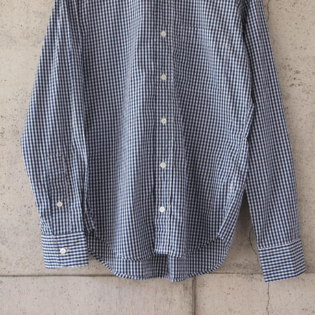 Manual Alphabet〈マニュアルアルファベット〉SUPERIOR GINGHAM CHECK BD SHIRT NAVY