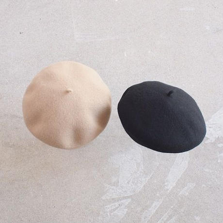 STYLE SPEC〈スタイルスペック〉 ウールフェルトベレー帽 BEIGE/BLACK