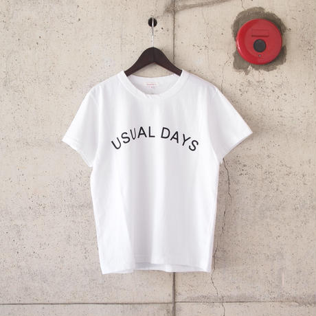 【women】SEIRYU & Co.〈セイリューアンドコー〉 USUAL DAYS T-SHIRT WHITE