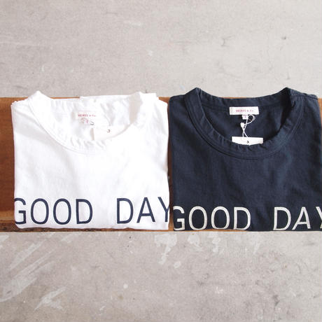 【women】SEIRYU & Co.〈セイリューアンドコー〉 GOOD DAY T-SHIRT WHITE