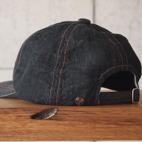morno〈モーノ〉 LINEN DUNGAREE B.B. CAP NAVY/BLACK