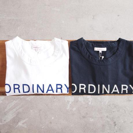 SEIRYU & Co.〈セイリューアンドコー〉 ORDINARY T-SHIRT WHITE/NAVY