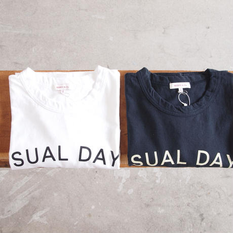 SEIRYU & Co.〈セイリューアンドコー〉 USUAL DAYS T-SHIRT WHITE/NAVY