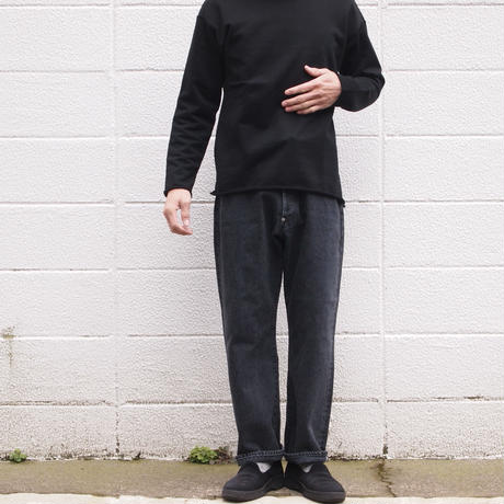 【unisex】Ordinary fits〈オーディナリーフィッツ〉 FARMERS 5P BLACK DENIM used BLACK