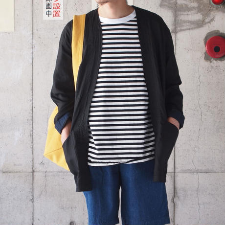 have a good day〈ハブアグッデイ〉 BORDER LOOSE TEE BLACK