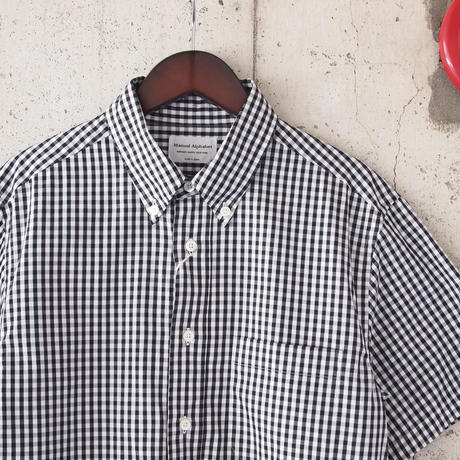 Manual Alphabet〈マニュアルアルファベット〉GINGHAM BASIC BD SHIRT BLACK