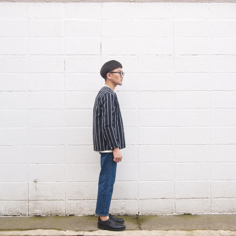 Manual Alphabet〈マニュアルアルファベット〉 BROAD STRIPE BB SHIRT STRIPE